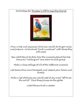 Activities for Eric Carle's Rooster's Off to See the World