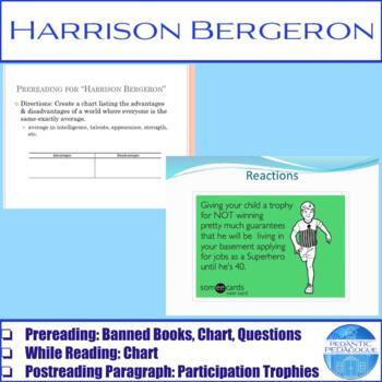 """Activities for """"Harrison Bergeron"""" by Kurt Vonnegut"""