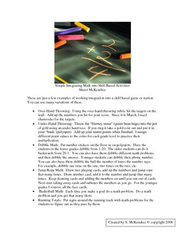 Activities for Integrating Math into Physical Education