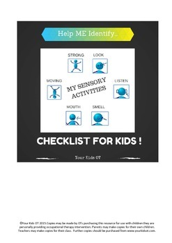 Activities for ME! Sensory Activity Checklist for Kids by Your Kids OT