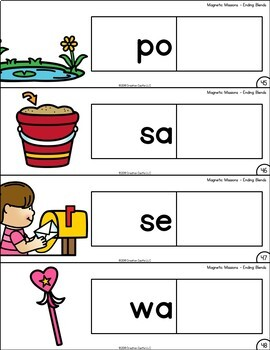 Activities for Magnetic Letters - Ending Blends