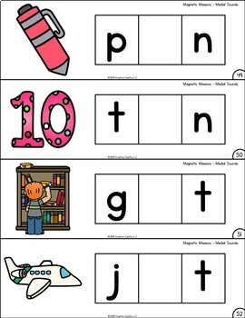 Activities for Magnetic Letters - Medial Sounds