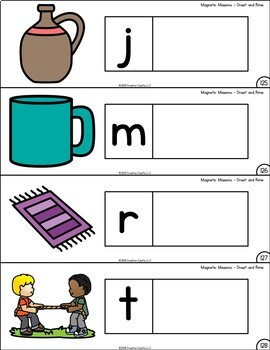 Activities for Magnetic Letters - Onset and Rime