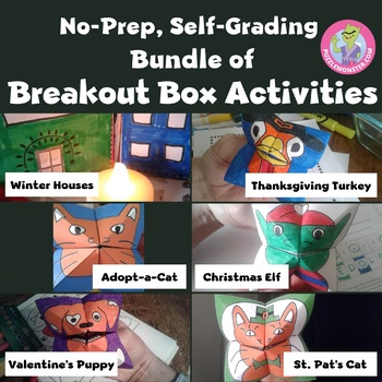 Activities for Middle School - Bundle of Breakout Boxes / Escape Rooms