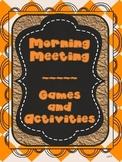 Activities for Morning Meeting, Energizers or Brain Breaks