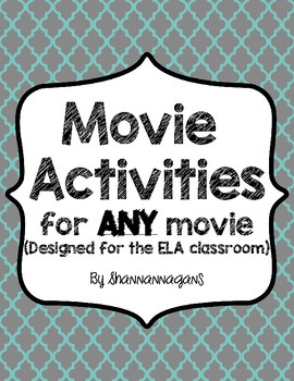 Activities for Movies for the ELA Classroom - Standards-Based