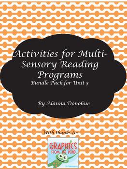Activities for Multi-Sensory Reading Activities (Bundle 3)