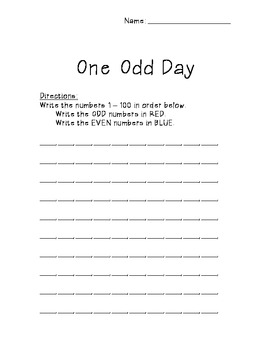 Activities for One Odd Day by Doris Fisher