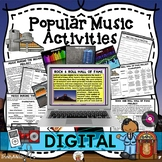 Extra Activities for Popular Music Through the Decades (Digital Google Version)