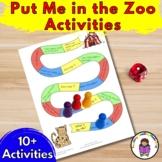 Activities for Put me in thee Zoo for Preschool/Kindergarten