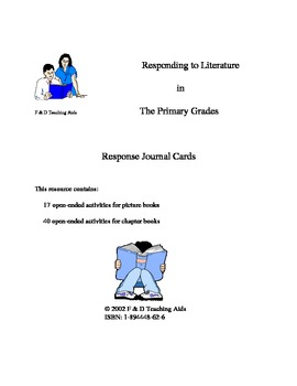 Activities for Responding to Literature for Grades 1 to 3