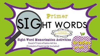 Activities for Sight Word Memorization Primer