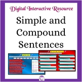 Google Slides Activities for Simple and Compound Sentences: Google Resource