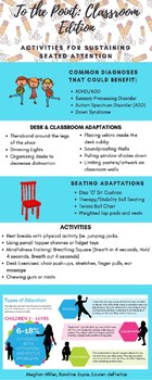 Activities for Sustaining Seated Attention