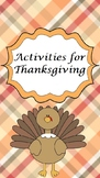 Activities for Thanksgiving