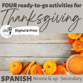 Activities for Thanksgiving - Spanish