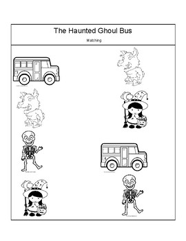 Activities for The Haunted Ghoul Bus