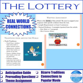 """Activities for """"The Lottery"""" by Shirley Jackson"""