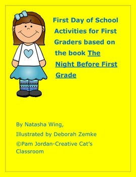 Back to School First Grade: Activities for the book The Night Before First Grade