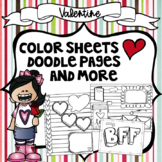 Valentine's Day   Doodle Pages   Coloring Pages