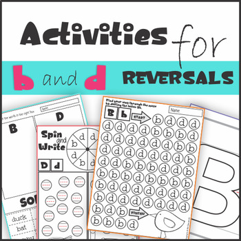 B And D Reversal Worksheets Teaching Resources | Teachers Pay Teachers