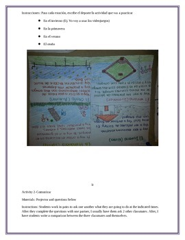 Activities for the Spanish I Classroom Part II