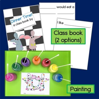 Activities for the book Lunch by Denise Fleming, Sorting, Graphing & Class Book