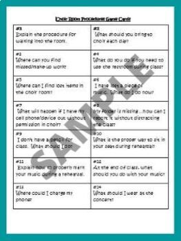 Activities for the first day(s) of Middle School/Junior High Choir-EDITABLE