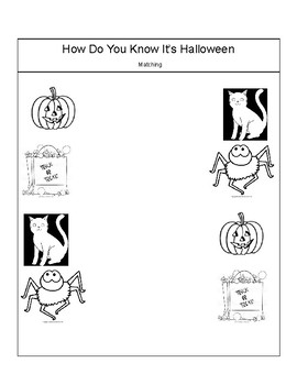 """Activities for the story """"How Do You Know It's Halloween"""""""