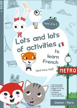 Activities in French - theme: Paris