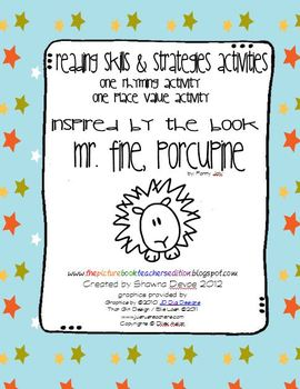 Activities inspired by Mr. Fine, Porcupine by Fanny Joly