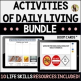 Activities of Daily Living Teletherapy Speech Boom Cards™ Bundle