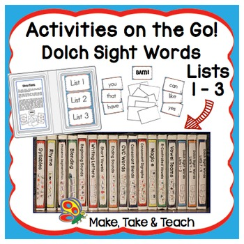 Dolch Sight Words Lists 1-3 - Activities on the Go!