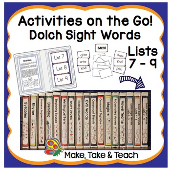 Dolch Sight Words Lists 7-9 - Activities on the Go!