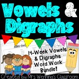 Word Work for Vowels and Digraphs! No Prep!!!
