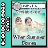 End of the Year Math and ELA Activities