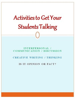 Activities to Get Your Students Talking
