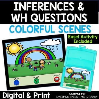 Inferences, Pronouns, Verbs & Basic Concepts,  No Print, Teletherapy