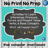No Print Speech Therapy Spring Scenes for Inferences on the Playground