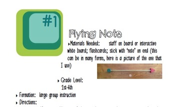 Activities to Practice Melody Using Flashcards Set