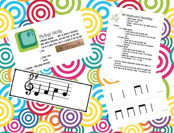 Activities to Practice Rhythm & Melody Set