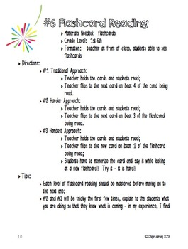 Activities to Practice Rhythm Using Flashcards Set