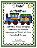 """Activities to Promote an """"I Can"""" Attitude Throughout the Year"""