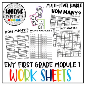 Activities to Support Module 1 NYE BUNDLE (addition, subtraction under 10)