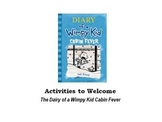Activities to Welcome the Diary of a Wimpy Kid Cabin Fever