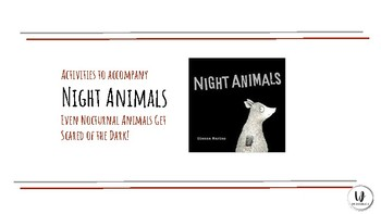 Activities to accompany the book NIGHT ANIMALS