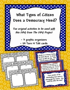 Activities to be used with the DBQ -What Type of Citizen Does a Democracy Need?