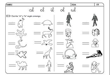 Activities to learn to read & write Spanish/ escribir y leer español actividades