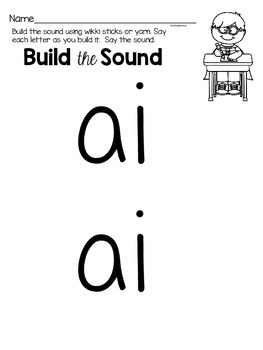 Activities to practice the sound {ai}