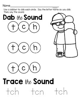 Activities to practice the sound {tch}